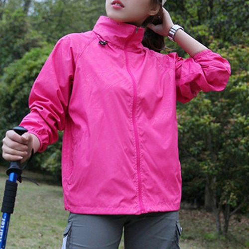 chamarra impermeable campismo senderismo mujer fiusha d1139