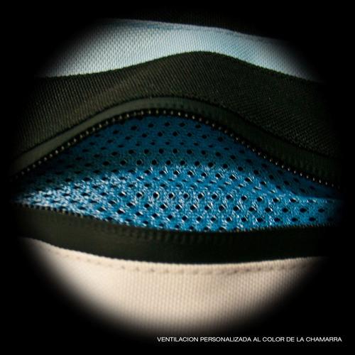 chamarra impermeable dama p/moto tuono brescia azul c/protec