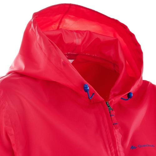 chamarra lluvia impermeable campamento dama rain-cut rosa