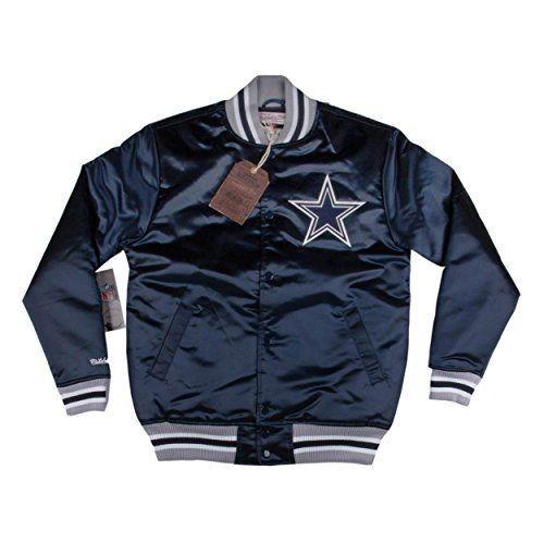 Chamarra Mitchell   Ness Dallas Cowboys Nfl Azul Platino ... c71f903f8ce