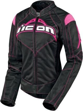 197c79e4eb3 Chamarra Moto Deportiva Nylon Para Dama Icon Contra Negro ...