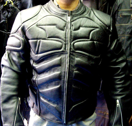 chamarra motociclista proteccion total tipo murcielago piel