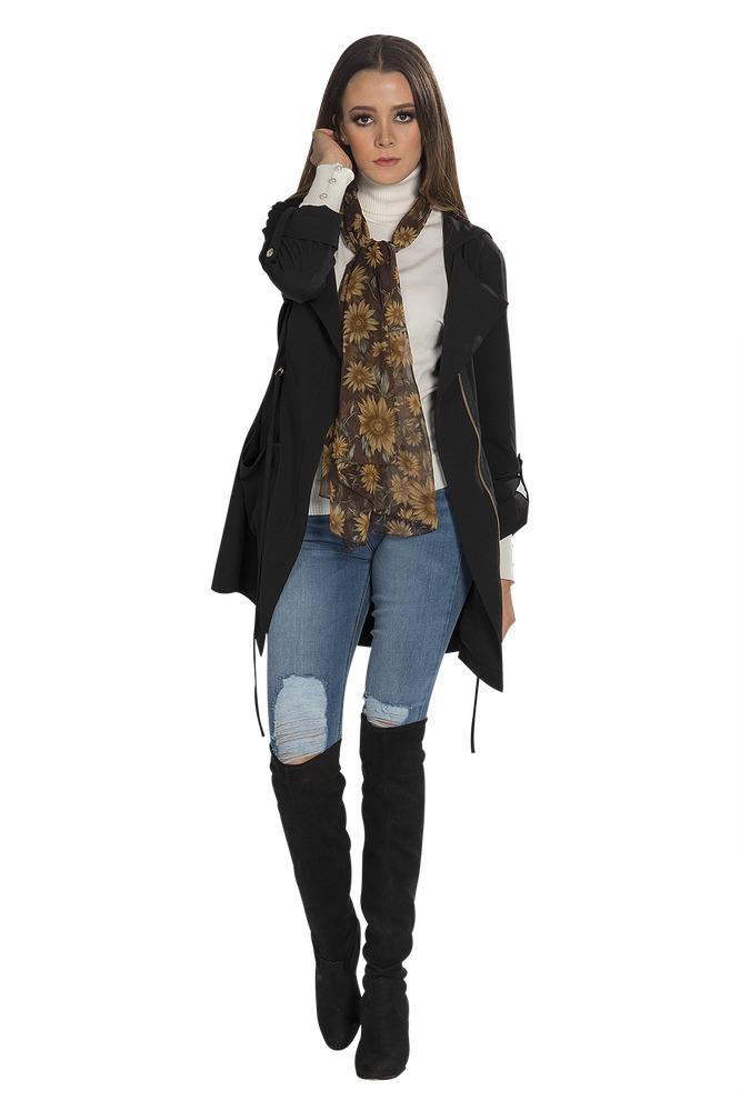 d60ba3a54c3 chamarra mujer cazadora negra ligera moda moderna abrigo. Cargando zoom.