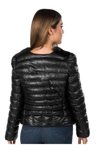 chamarra mujer piel sintetica casual moda afelpada invierno