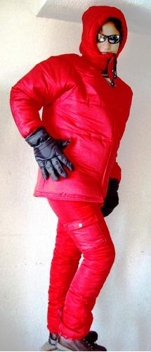 chamarra pantalon frio intenso invierno nieve bajo cero