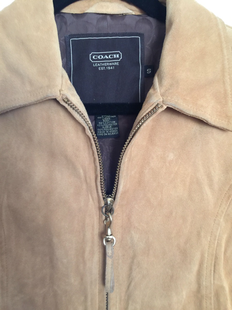 Chamarra Jacket Coach Piel Mujer -   2 c0aa63803b2d