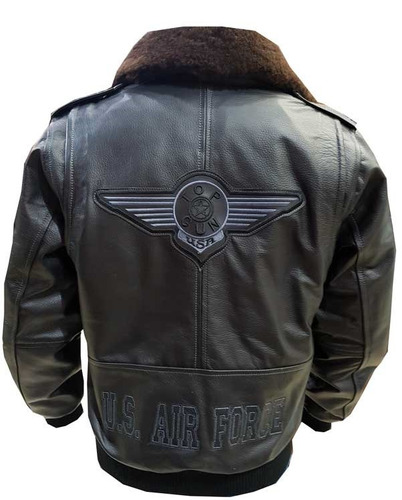 chamarra piloto aviador / top gun negra xl