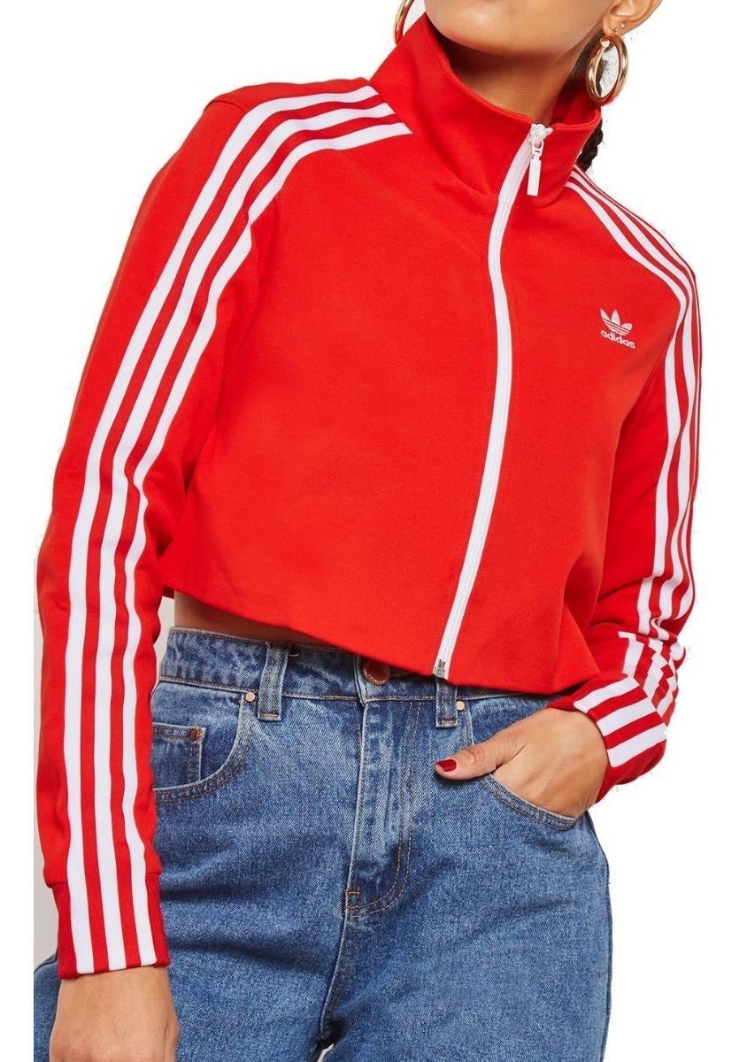 Chamarra Sudadera Mujer adidas Originals Track Top - Rojo