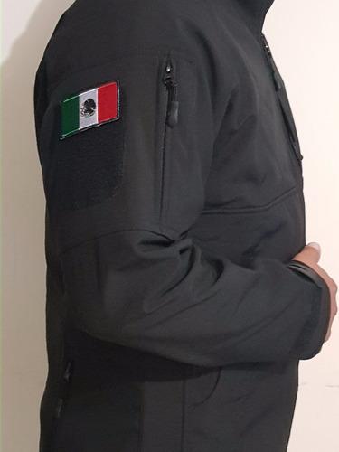 chamarra táctica militar incluye parche de bandera de méxico