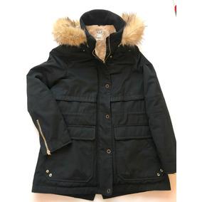 1c78d5f574f0d Chamarra Zara Larga Color Negro Abrigadora Gorro Parka