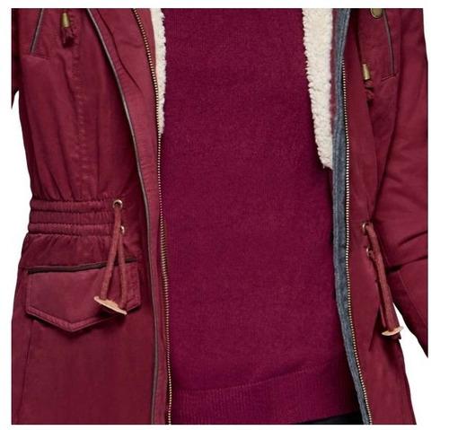 chamarras de mujer de moda  casual gabardina 1i7d6204 vino