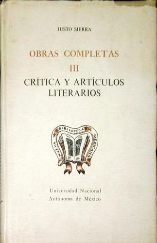 chambajlum justo sierra iii.critica y articulos literarios