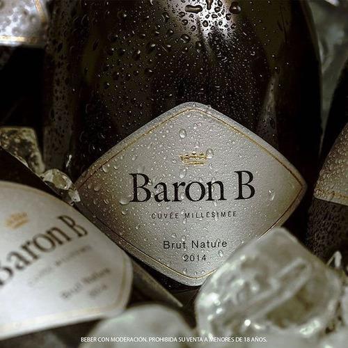 champagne baron b brut nature 750ml original botella