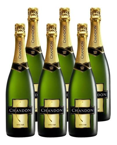 champagne chandon extra brut caja x 6 botellas