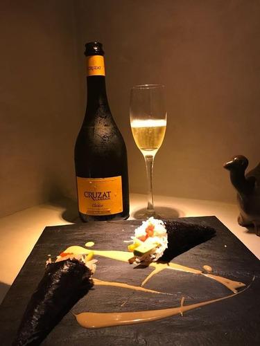 champagne cruzat premier pinot chardonnay vino espumante