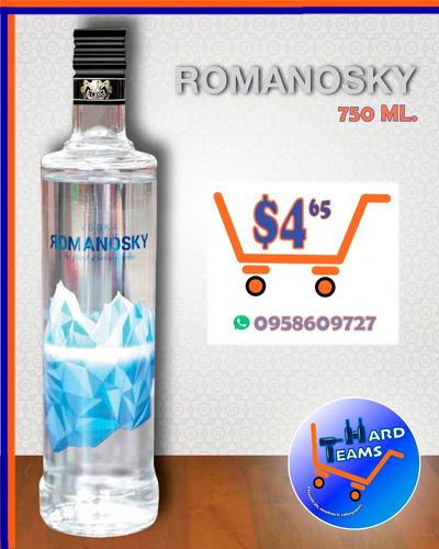 champagne duc de breux * vodka romanosky * vino viña lanzar