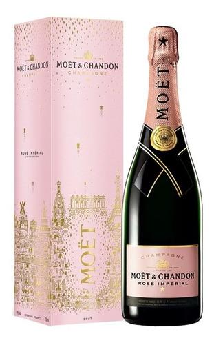 champagne moet chandon rosado imperial con estuche frances