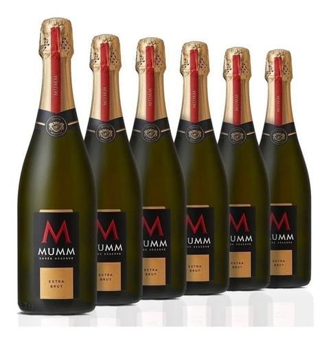 champagne mumm cuvee reserva extra brut caja x 6 botellas