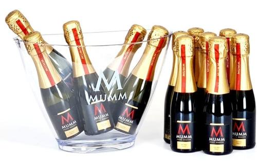 champagne mumm extra brut 187ml x 12 unid + frapera ed limit
