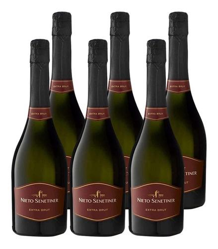 champagne nieto senetiner extra brut 6 botellas de 750cc