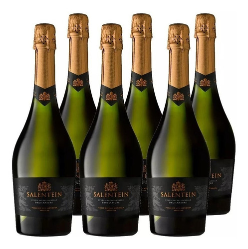 champagne salentein brut nature caja por 6 botellas