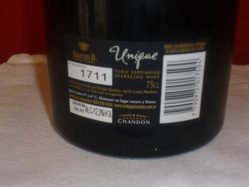 champagne unique brut nature baron b 2001