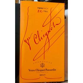 Champagne Veuve Clicquot Brut C/ 2 Unidades Na Caixa Origina