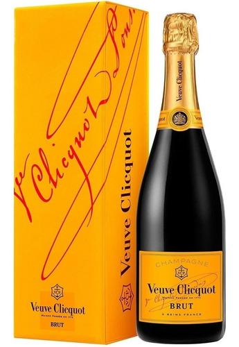 champagne veuve cliquot brut en estuche importado de francia