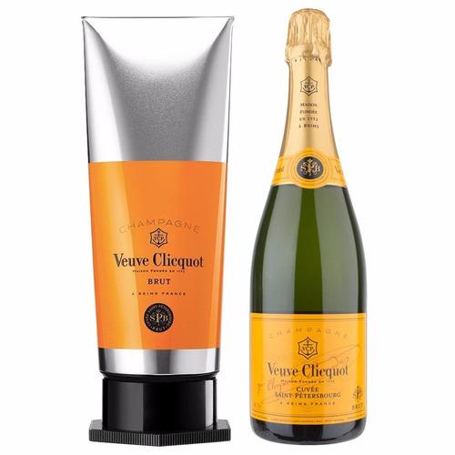 champagne veuve cliquot brut en lata gouache frances
