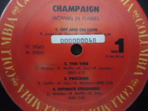 champaign / woman in flames vinyl lp acetato