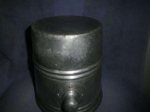 champañera antigua de aluminio con asas reforzada