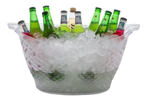champanheira balde de gelo acrílico transparente 18 litros