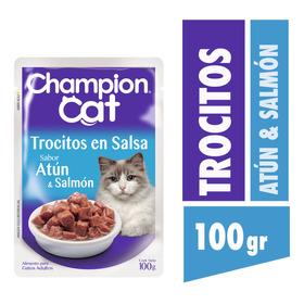 Champion Cat Pouch Atún Y Salmón 24 X 100 G
