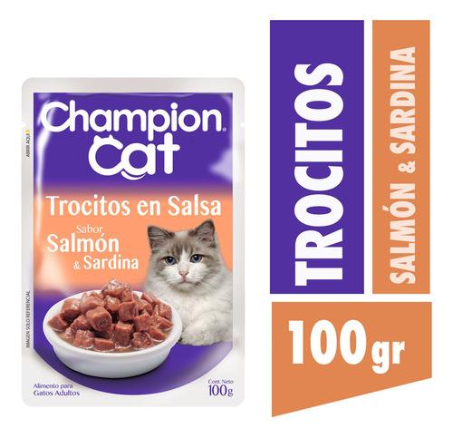 champion cat pouch salmon 24 x 100 g