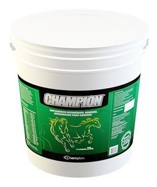 champion equinos 20 kg - suplemento vitamínico e mineral