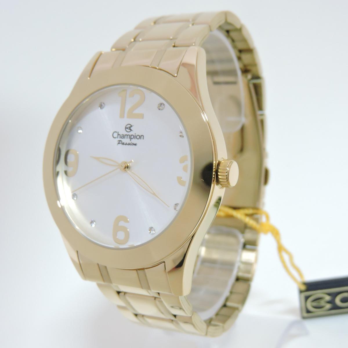 17f6e95a499 Relógio Champion Feminino Passion Dourado E Prata Ch24268h - R  169 ...
