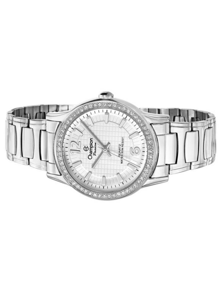 ceee88f9857 Carregando zoom... relógio champion feminino social prata barato prova  cn28839q