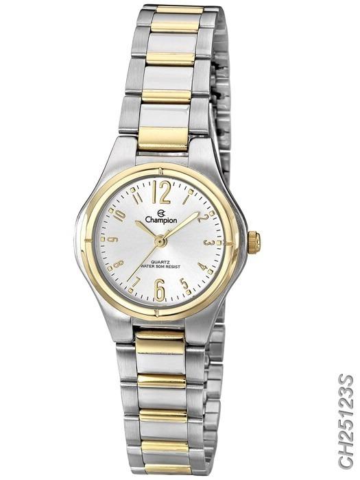 a9de9b6bd30 champion feminino relógio · relógio champion dourado e prata feminino  pequeno ch25123s