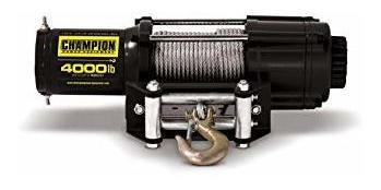 champion power equipment 13004 4000 lb. atv / utv winch kit