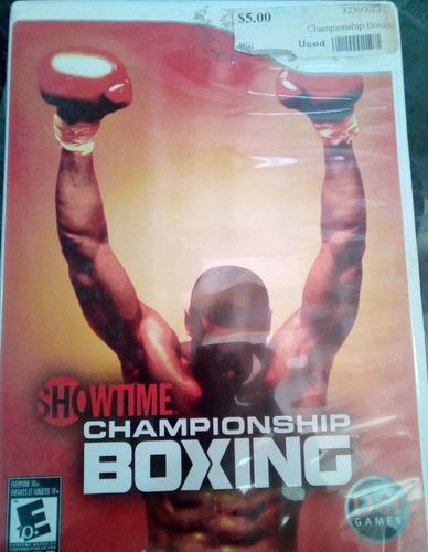 championchip boxing  /juego nintendo wii & wii u original