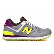 Championes New Balance 574 Grye Grey/yellow De Dama