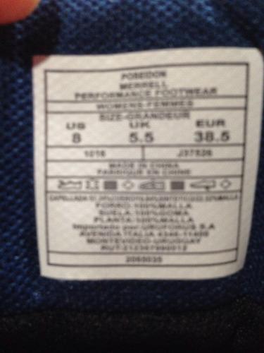 championes botas merrel azules talle 37