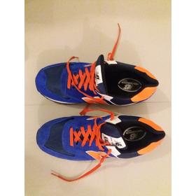 Championes New Balance Azul Francia Y Naranja