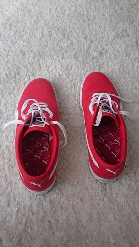 championes puma originales - rojo y blanco - nuevos