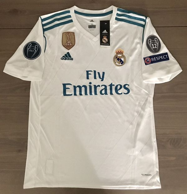 more photos 51ab1 f7ecb Champions League Jersey Real Madrid Blanca 2018 Envio Grati