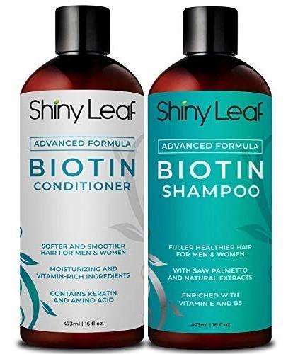 champú biotina y acondicionador para el crecimiento del ca