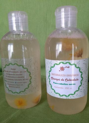 champu de calendula para cabellos secos