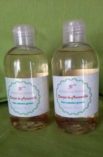 champu de manzanilla para cabellos grasos aclarante