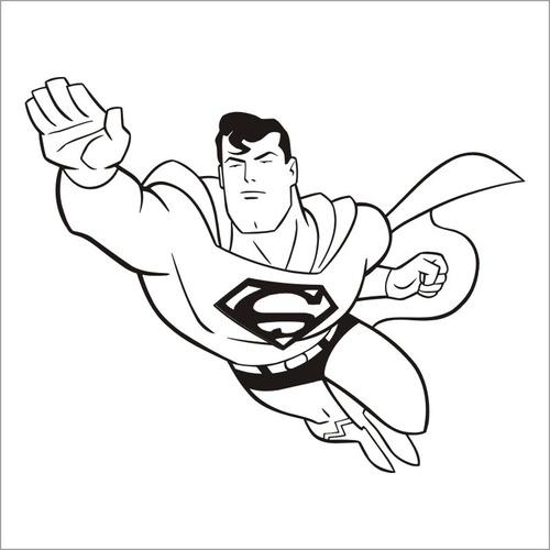 chancho chi - vinilos decorativos - superman -  0.55x0.50mts