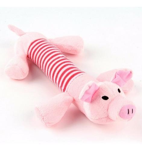 chancho juguete con chifle de 27cm para perros mascotas